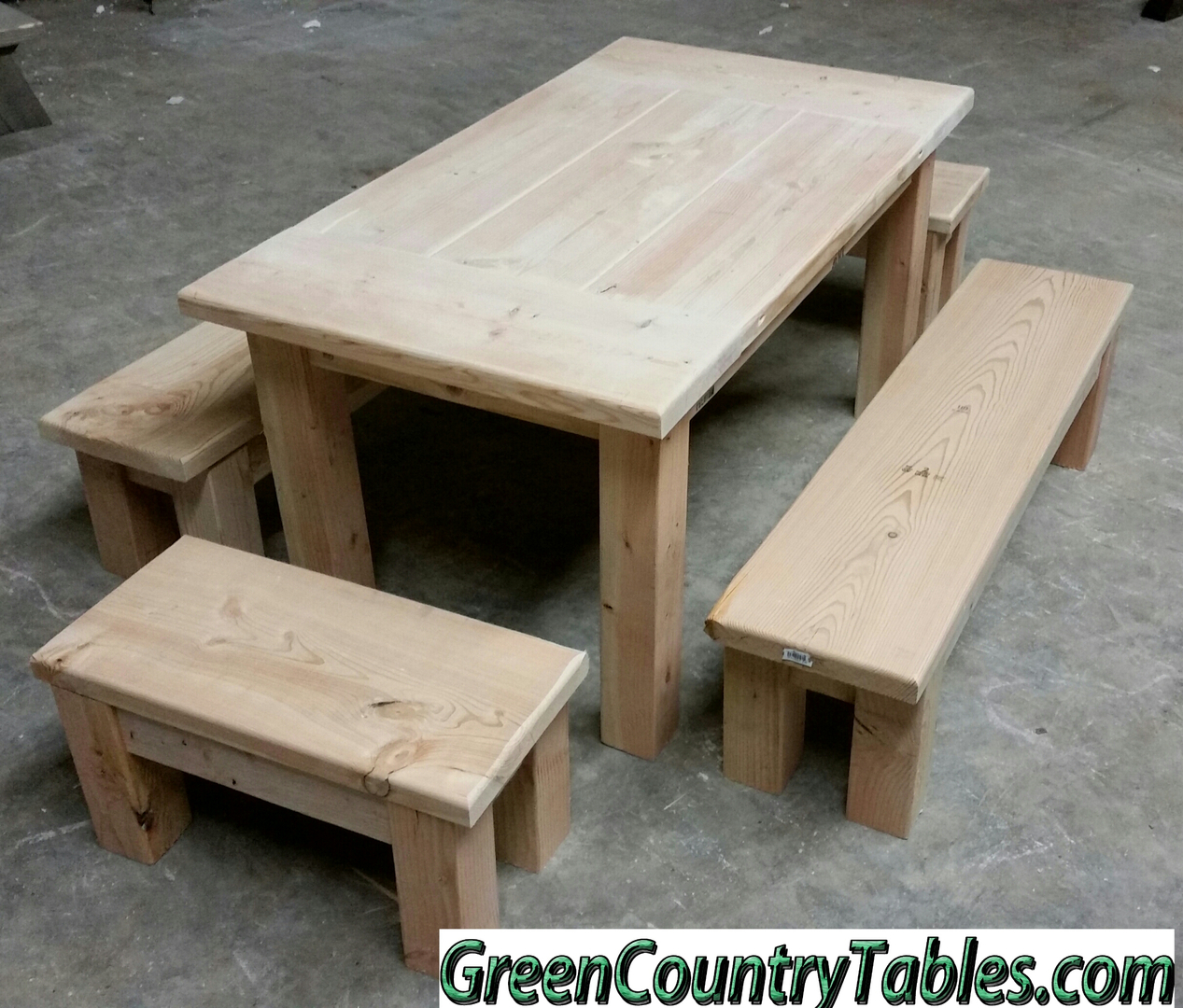 concepts home overstock creek product shipping unfinished parawood farmhouse garden today bench laurel dining hayes free international solid