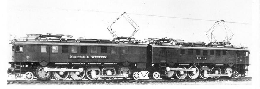 Norfork and Western No. 2512, a 1-D-1+1-D-1 Class LC2 electric locomotive.