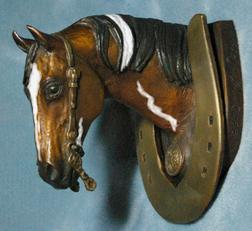Paint horse western bronze sculpture