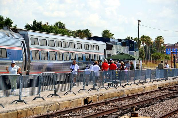 A Viewlliner Car at Tampa Union Station on Amtrak's Silver Star.
