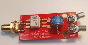9:1 16:1 4:1 2:1 1:1 Balun Transformer for Receiver Antenna