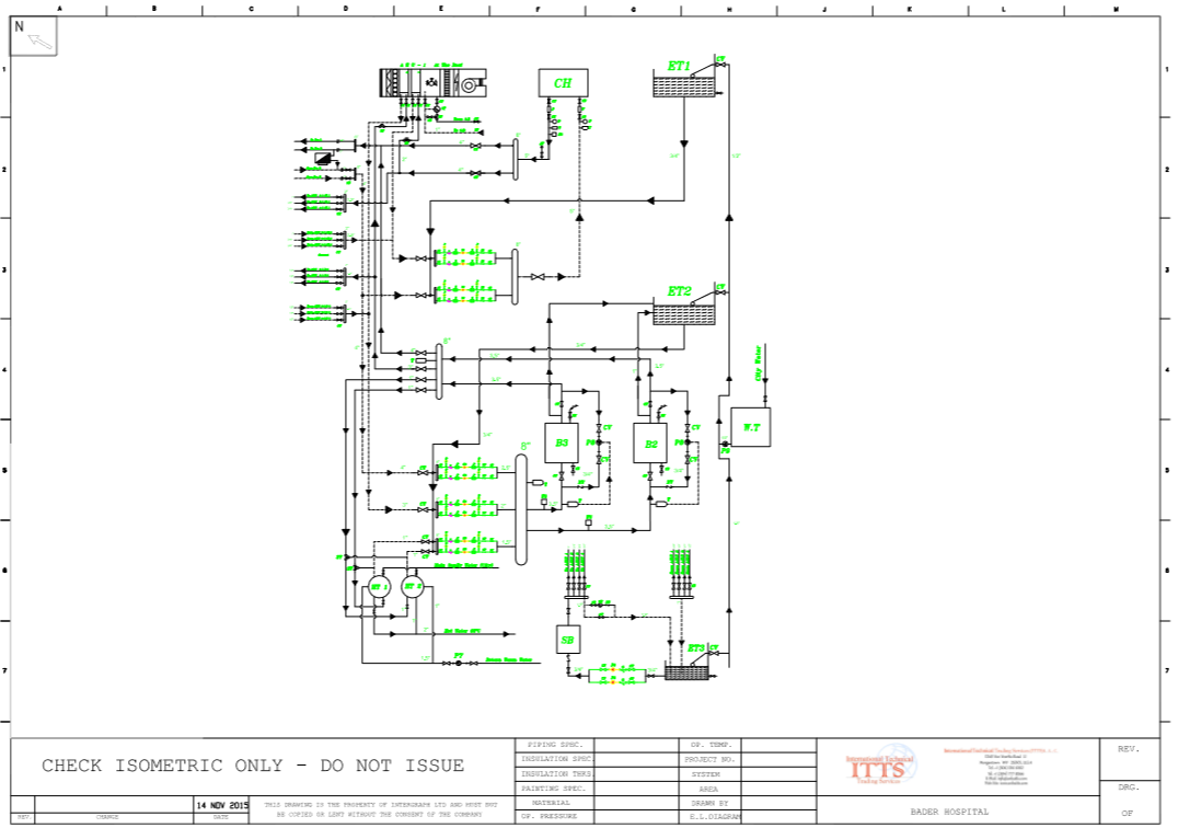 Hvac System Design And Engineering Isometric Drawing Bader Hospital
