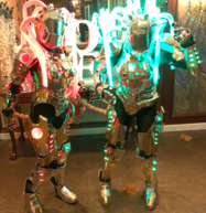 LED Female Lady Robots