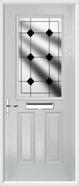 2 Panel 1 Square Composite Door resin lead