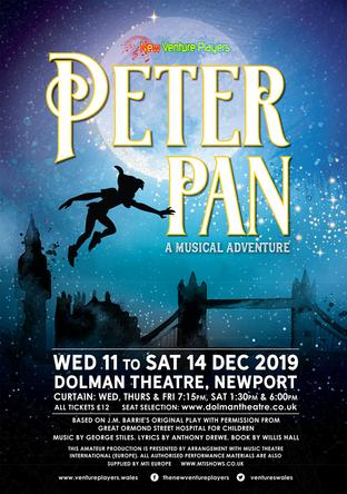 Click to book tickets for Peter Pan a Musical Adventure via the Dolman Theatre website