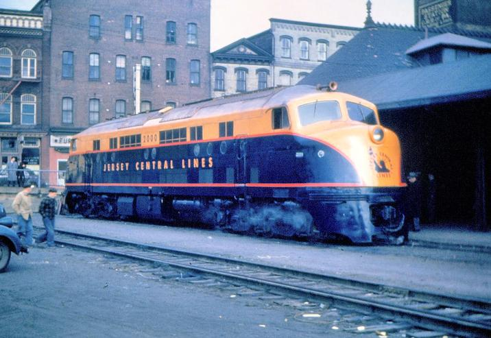New Jersey Central locomotive No. 2000 at the Terminal Railroad Depot, December, 1946.