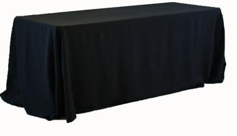 LONG BLACK TABLECLOTH