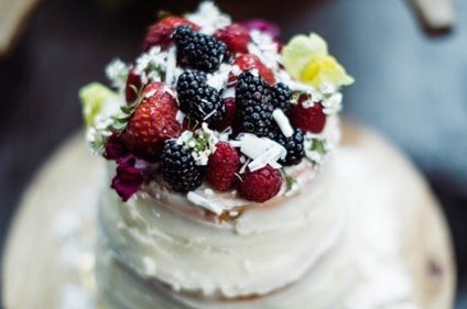 a gorgeous rustic cake topped with berries by tiffany friedman of butterroot