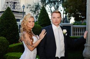 Beautiful Wedding Couple at the Bellagio Las Vegas