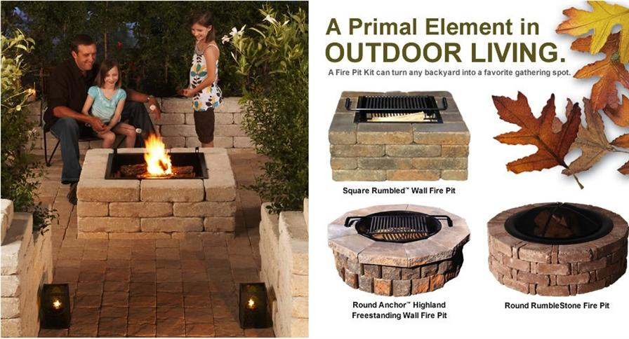 Gather around a Pavestone Fire Pit kit this summer and enjoy more time with  family and friends. Just add S'mores. - Fire Pits