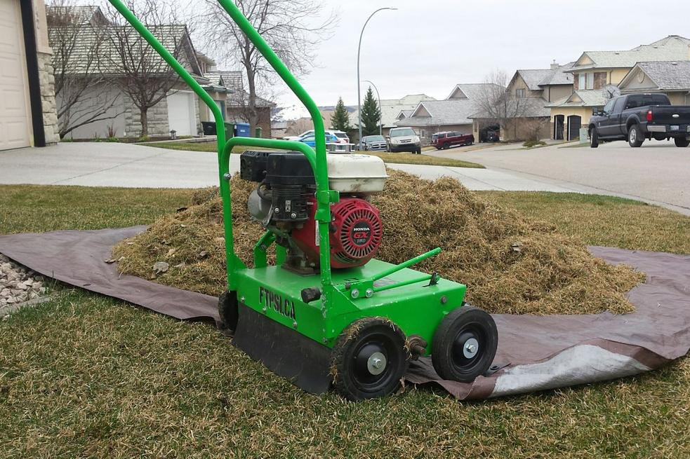 What is Power Raking your Lawn | FT Property Services Inc. | Calgary, Alberta