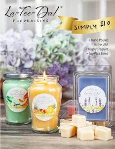 LaTeeDa Candles Spring Fundraiser brochure