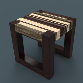 DIY secret hidden compartment end table. Image shows finished product. www.DIYeasycrafts.com