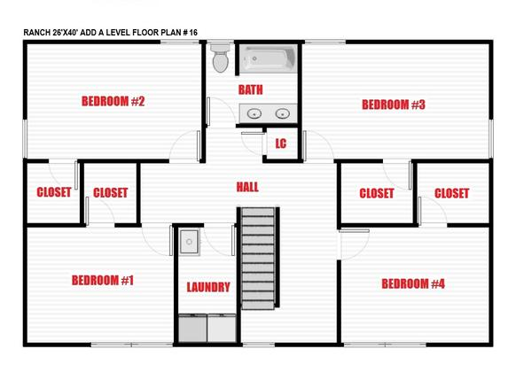 North Jersey Pro Builders | Ranch add-a-level floor plan 16