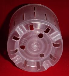 clear plastic orchid pot 5 inch slots cone holes ventilation large