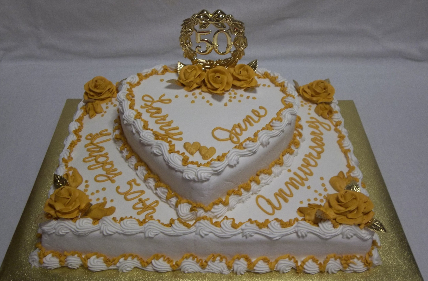Custom made cakes and cookies in West - Anniversary Cakes 1 Sheet cakes