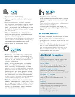 FEMA Active Shooter One Pager