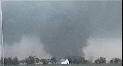 Big Tornado near Girard, KS during Mayhem 1 Tornado Tours