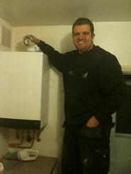 James Installing a new combi boiler in Grays