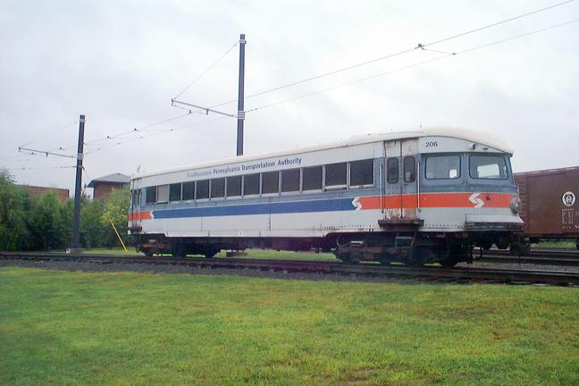 Philadelphia & Western Railway Co. No. 206 at the Electric City Trolley Museum, Scranton,PA.