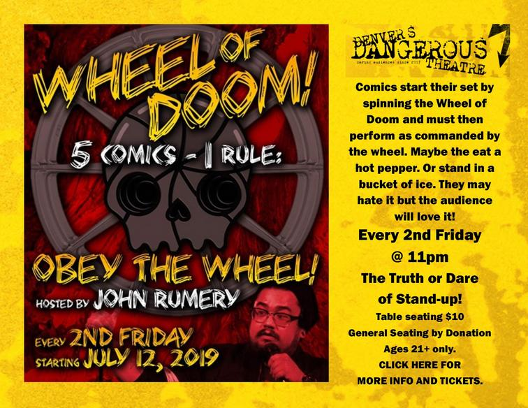 Wheel of Doom tickets for Dangerous Theatre