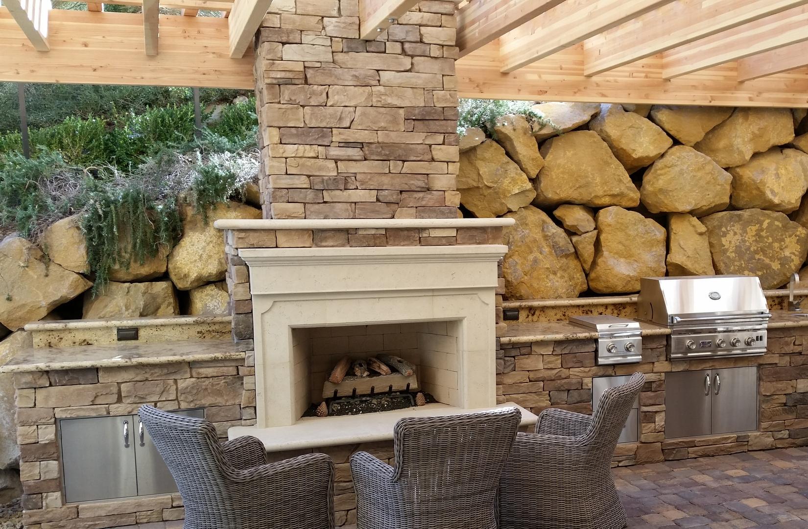 custom outdoor living fireplaces las vegas nv