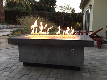 Polished Contemporary Fire Table