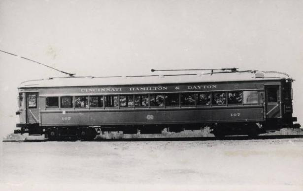 Cincinnati, Hamilton and Dayton Railway Car No. 107.