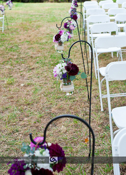 Wedding Decorations, Shepherd Hooks, Mason Jars