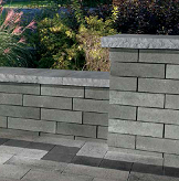 Lineo dimensional contemporary retaining Wall blocks