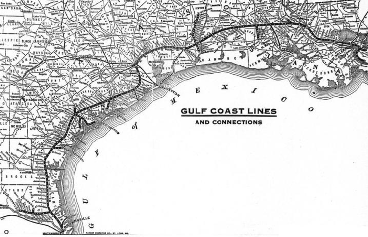 A map of the Gulf Coast Lines.