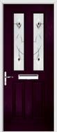 2 Panel 2 Square Composite Door fusion art glass