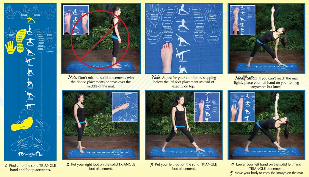 Learn How To Use The Instructional Yoga Mat