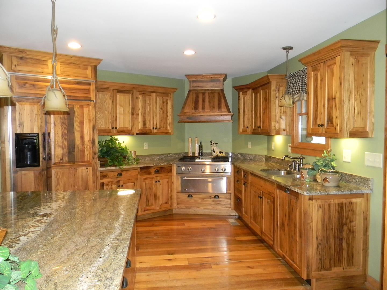 Wormy chestnut kitchen cabinets for Chestnut kitchen cabinets