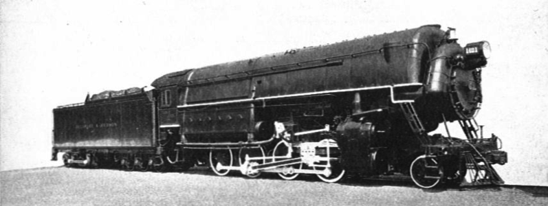 Delaware & Hudson No. 1401, John B. Jervis. Fitted with Water-Tube Boiler pressed at 400-lbs. per square inch.