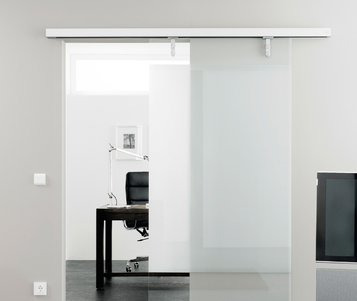 Linear drive magnetic sliding door
