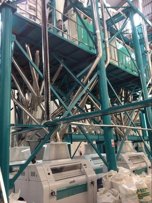 installed image of 150 metric ton maize milling machinery in Kenya