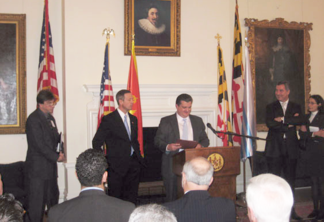Maryland tax attorney Charles Dillon being honored by the Governor of Maryland and the Prime Minster of Montenegro
