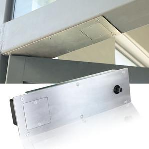 Concealed automatic swing door operator