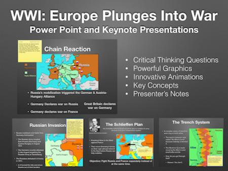 WWI: Europe Plunges Into War PowerPoint