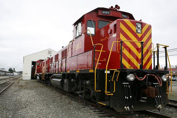 New NRE 3GS21B locomotives delivered to the U.S. Army.