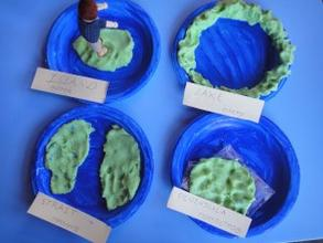 play-dough Montessori land and water forms