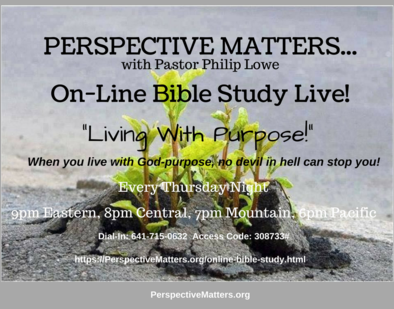 Perspective Matters Online Bible Study
