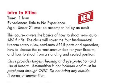 Intro to Rifle Class Osseo Gun Club