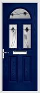 2 Panel 2 Square 1 Arch Door monza glass