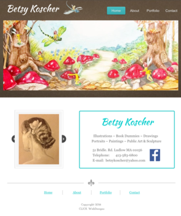 Betsy Koscher Art website designed by CLICK WebDesigns