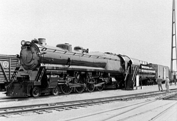 Baltimore and Ohio Railroad duplex locomotive, class N-1 No. 5600 George H. Emerson, at the 1939 New York World's Fair.