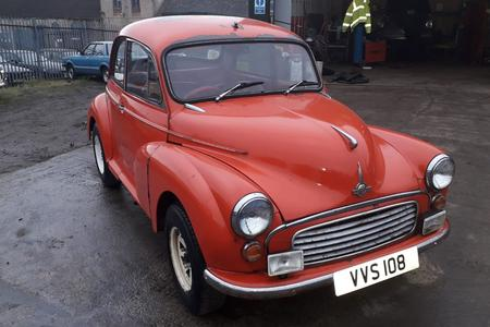 1962 MORRIS MINOR DESIRABLE 2 DOOR MODEL TAX & MOT EXEMPT