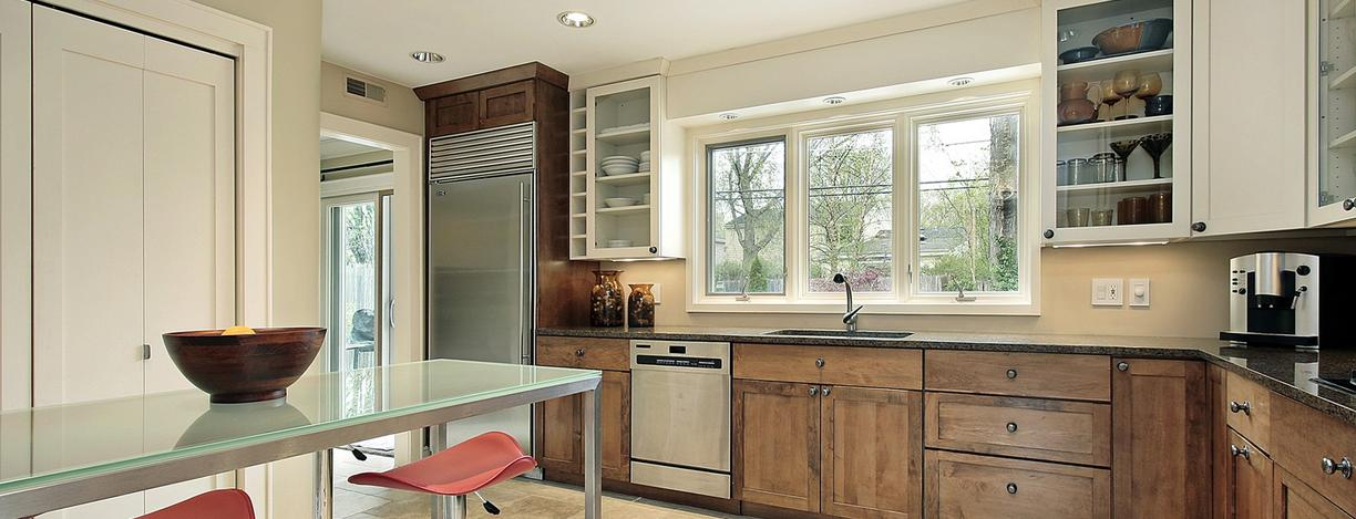 Photo of custom glass top, window glass replacement and cabinet door glass