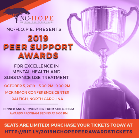 NC-H.O.P.E. Peer Support Awards Banquet for Excellence in Mental Health and Substance Use Treatment